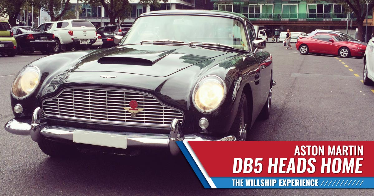Aston Martin DB5 WillShip NZ Heads Home Image