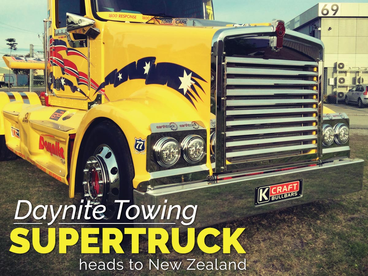 Daynite Towing SuperTruck heads to New Zealand Image WillShip NZ