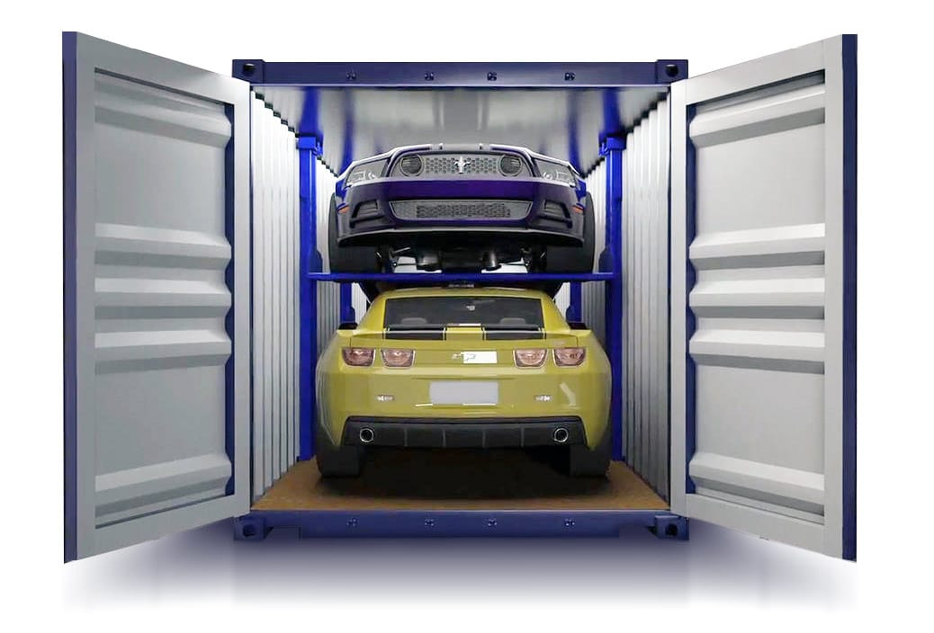 WillShip NZ R-Rack Container For Shipping 2 Cars in 1 Container